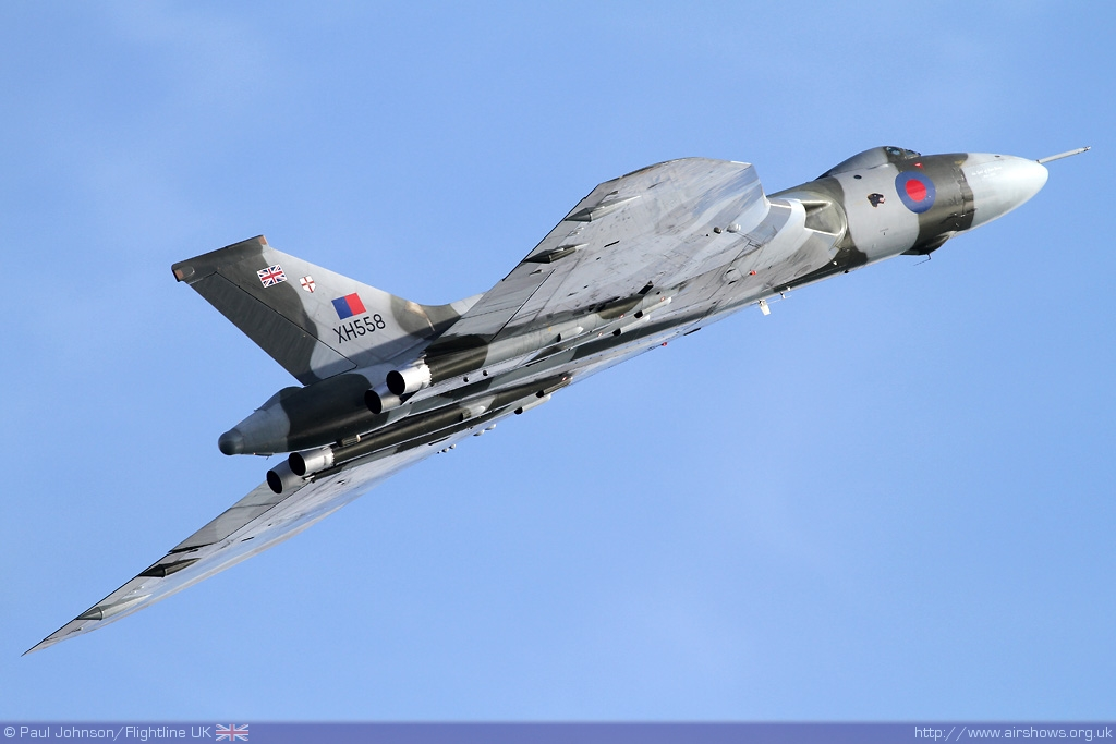 Avro Vulcan XH558 at Bournemouth Air Festival - Image © Paul Johnson