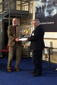 John Turner (BADA) presents the Miss Demeanour Trophy to Dr Robert Pleming (VttS)
