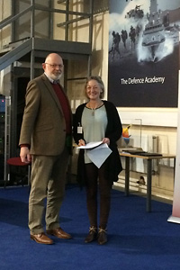 John Turner (BADA) presents the Lifetime Achievement award to Jeanne Frazer